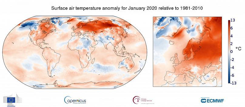 Amióta mérik, még sosem volt ilyen meleg a január Európában   ClimeNews