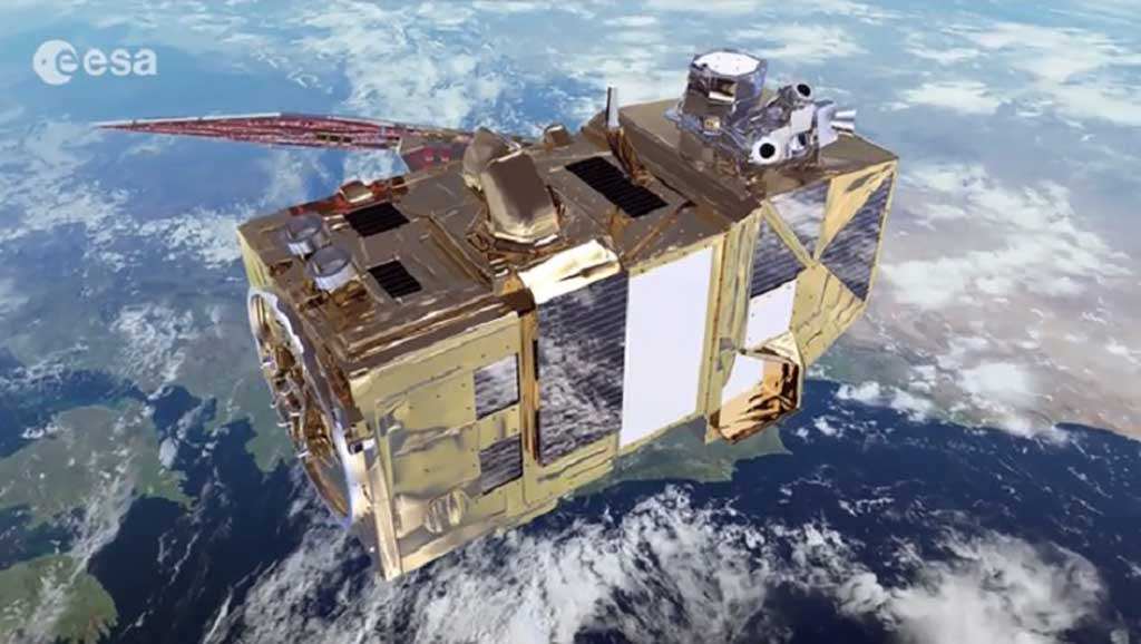 Több mint 70 magyar fejlesztés Európa klímakutató műholdján