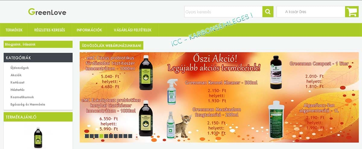 A GREENLOVE webáruház is a felelős vállalkozások között!
