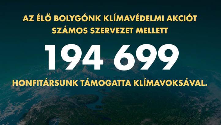 """Majdnem kétszázezer ember és több száz intézmény támogatta """"klímavoksával"""" az államfő Élő Bolygónk kampányát"""