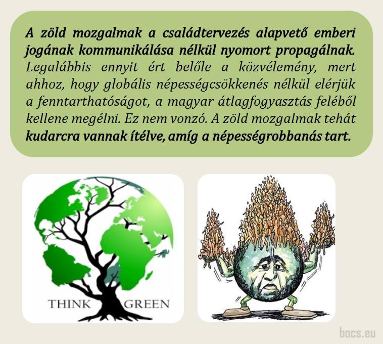 A zöld mozgalmak kudarcra vannak ítélve