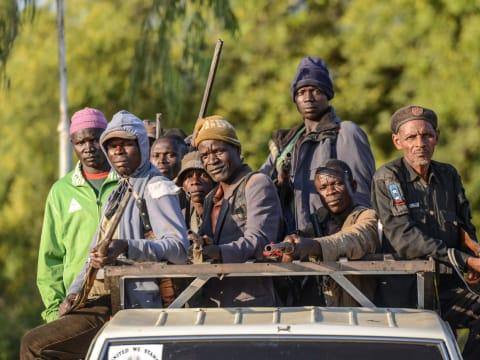 A Boko Haram ellen harcoló helyiek Nigériában Fotó: Anadolu Agency