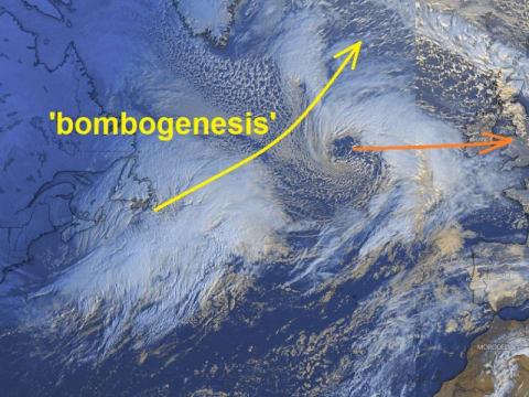 Valószínűleg a szezon legerőteljesebb extra-trópusi ciklonja lesz látható   ClimeNews