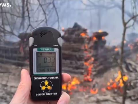 Ég az erdő Csernobil határában