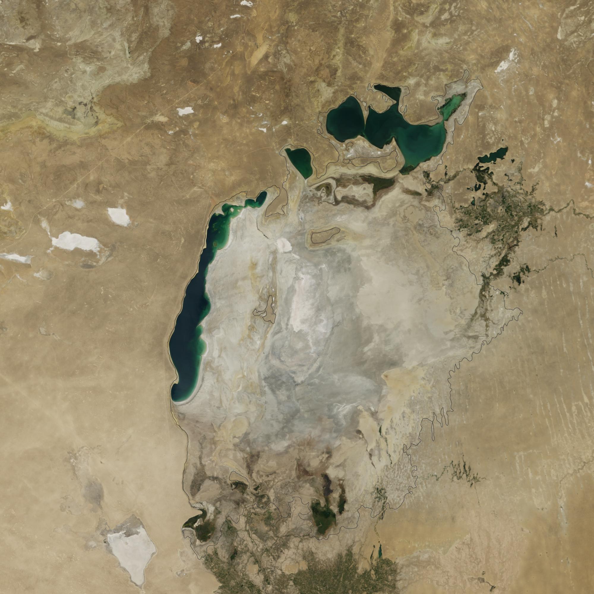 Kiszáradt az Aral-tó – Természeti katasztrófa az űrből