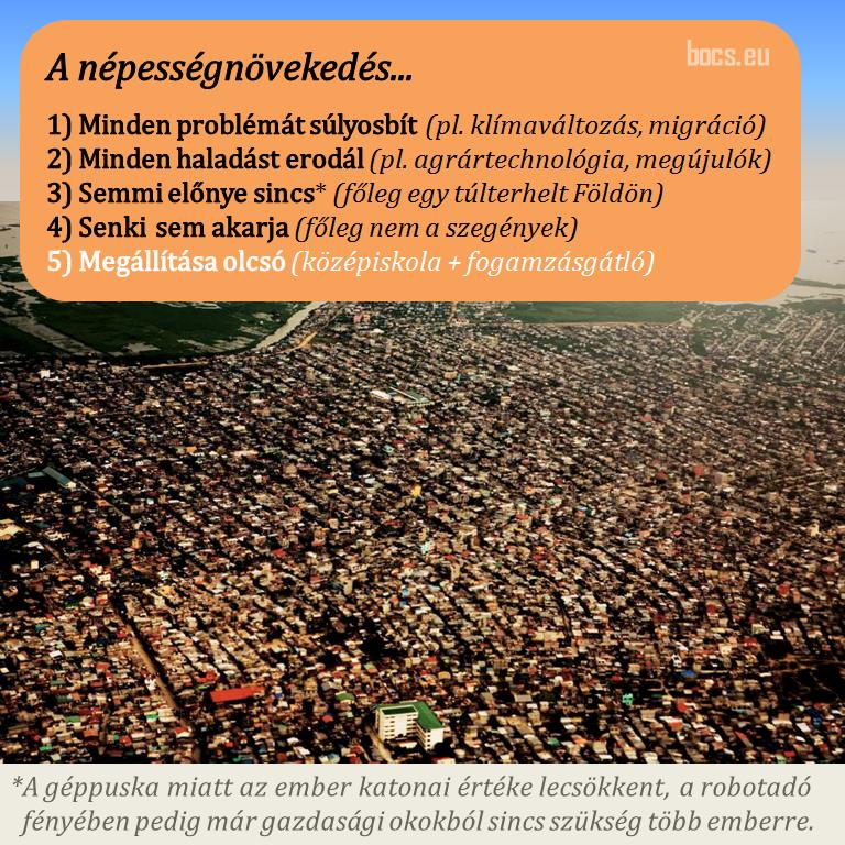 Röviden a népességnövekedésről - ClimeNews - Hírportál
