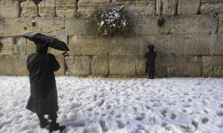 40 centis hó Jeruzsálemben