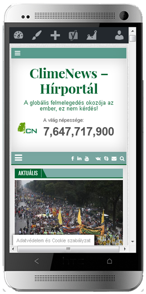 ClimeNews - Hírportál mobiltelefonon is!