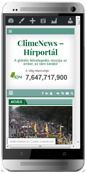 ClimeNews - Hírportál mobiltelefonon is!