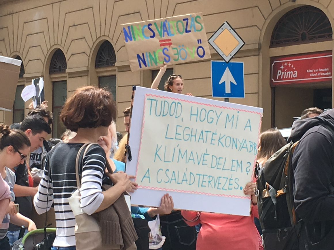 Klímatüntetés Budapesten 2019. május 24-énFotó: Balázs Zsuzsanna