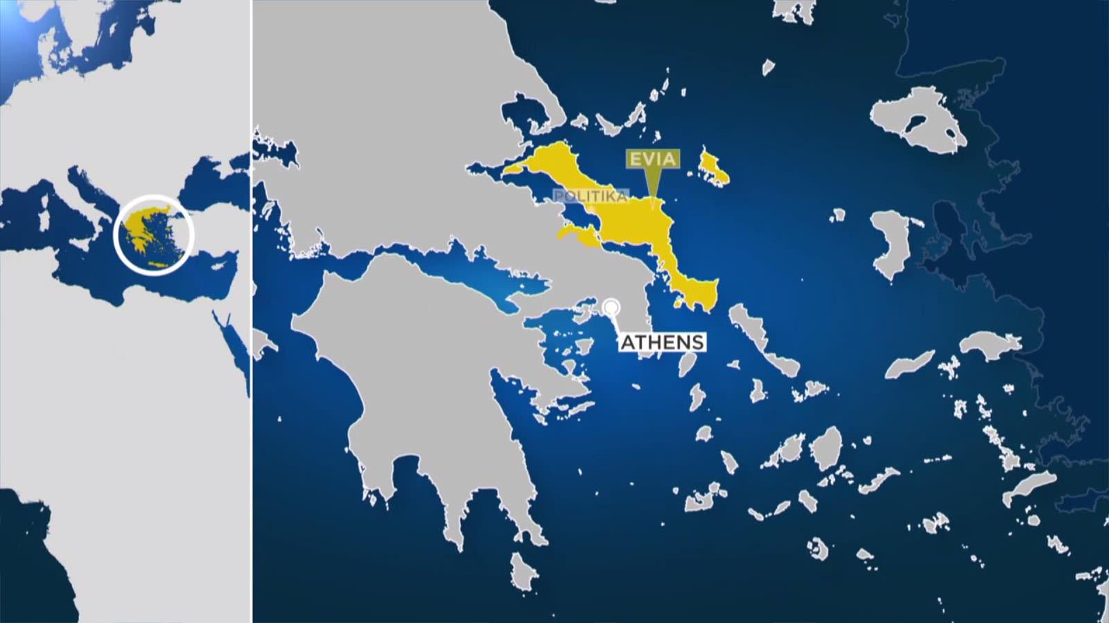 Katasztrófa a Görögországhoz tartozó Évia szigetén