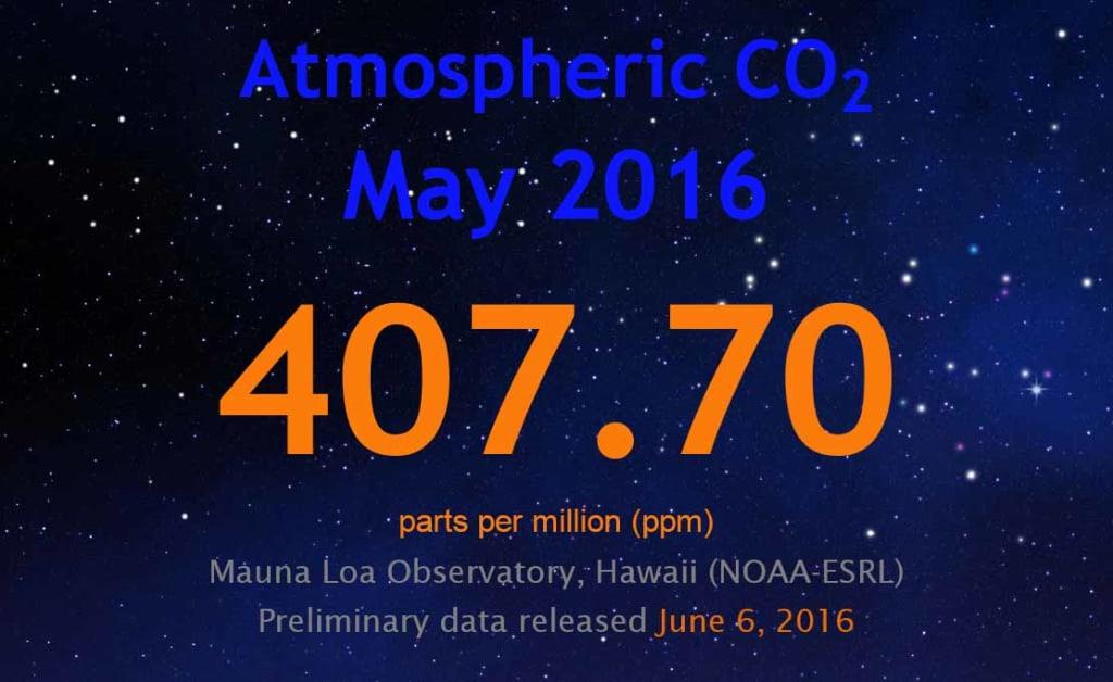 407,7 ppm szén-dioxid szint és ez már drámai - ClimeNews