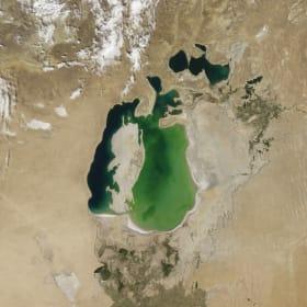 Fotó: NASA EO / Jesse Allen / LAADS | Kiszáradt az Aral-tó - Természeti katasztrófa az űrből - CN
