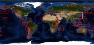 Globális kéndioxid-térkép (forrás: NASA) - ClimeNews