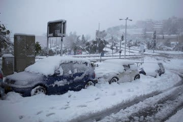 Snow storm in Jerusalem