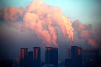 Gyárkémények Kínában Forrás: AFP/CHINA OUT