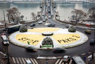 Nukleáris kockázatok - Stop Paks 2 - Hungary Greenpeace Protest