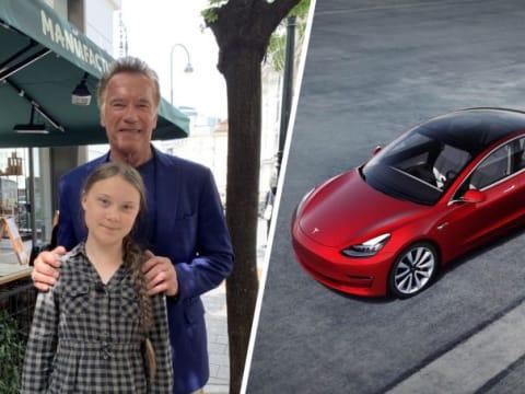 Arnold Schwarzeneggertől kapott Teslát klímatüntetéseihez Greta Thunberg | ClimeNews