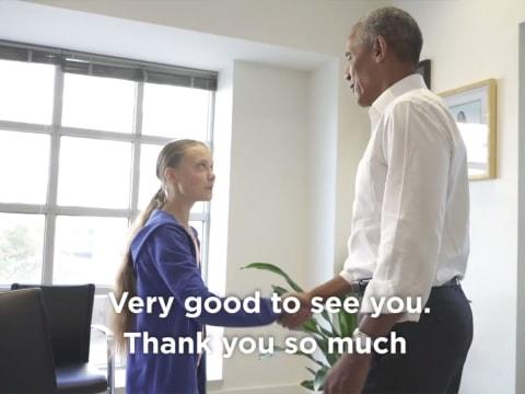 Greta Thunberg és Obama találkoztak | ClimeNews - Hírportál