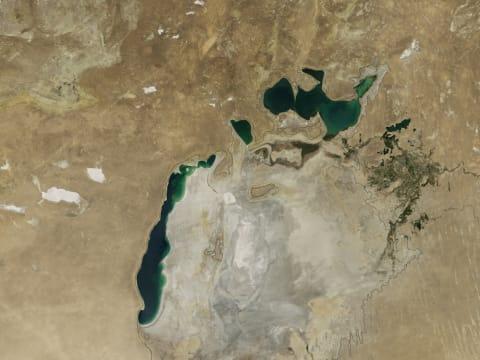 Kiszáradt az Aral-tó - Természeti katasztrófa az űrből   ClimeNews - Hírportál
