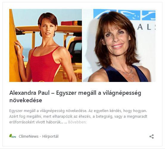 A hatvanas években nőttem fel... - Alexandra Paul | ClimeNews