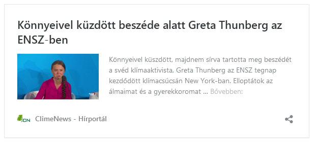 Könnyeivel küzdött beszéde alatt Greta Thunberg az ENSZ-ben | ClimeNew