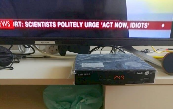 """A BBC World első híradása a sajtótájékoztatóról: """"A tudósok udvariasan sürgetnek: »Cselekedjetek azonnal, idióták!«"""""""
