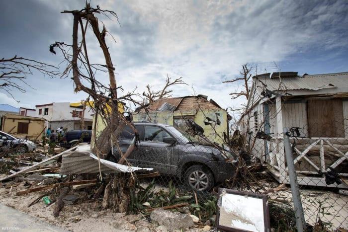 Saint Martin az Irma pusztítása után   Fotó: Handout / REUTERS