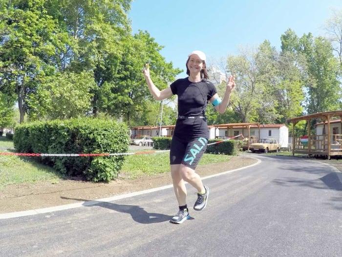 Kristina Paltén Svédország, új 48 órás nemzeti női rekord: 288,241 km - ClimeNews - Fotó: Szilvia Őszi