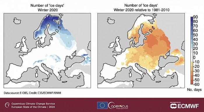 Európa éghajlata 2020-ban | ClimeNews