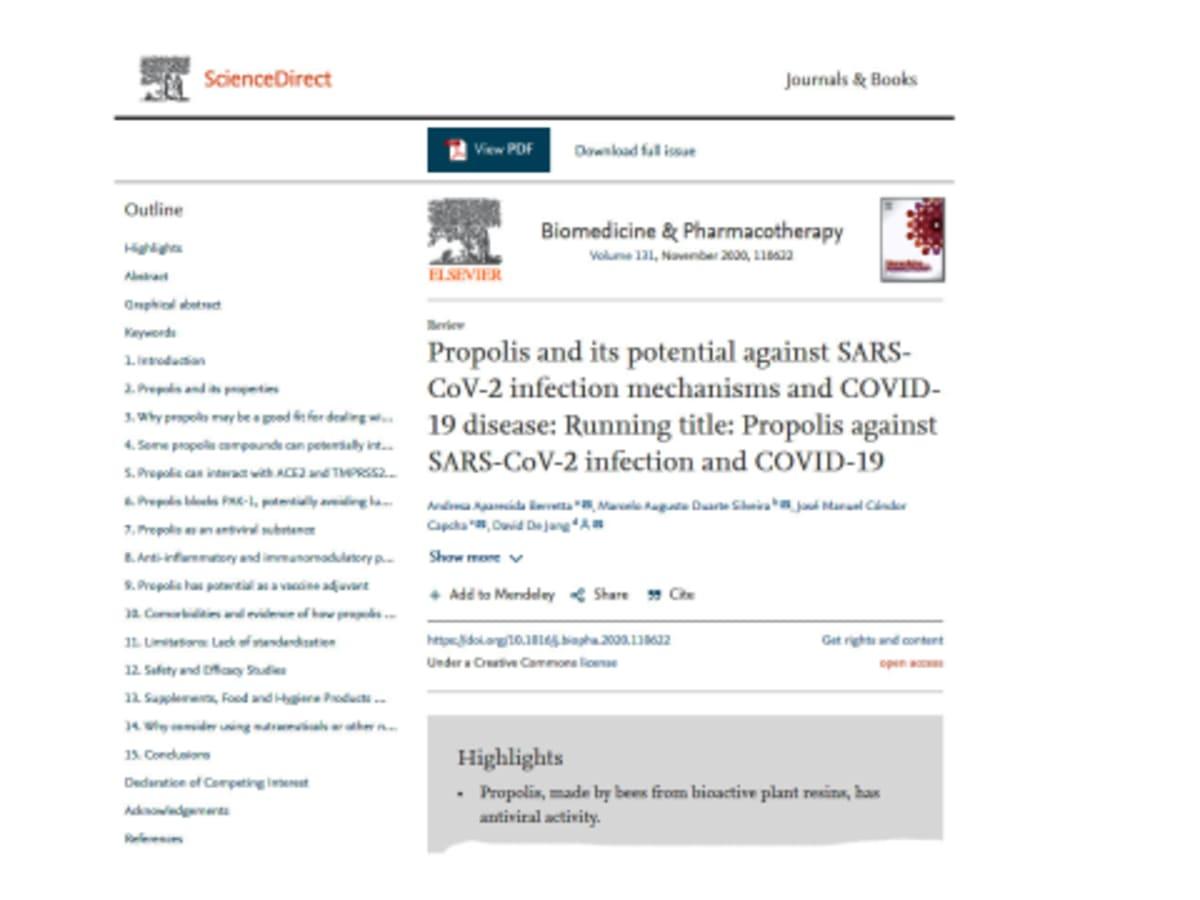 Propolisz a SARS-CoV-2 fertőzés és a COVID-19 ellen   ClimeNews