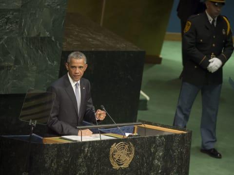 New York, 2015. szeptember 28. - Obama amerikai elnök felszólal az ENSZ-közgyûlés 70. ülésszakán