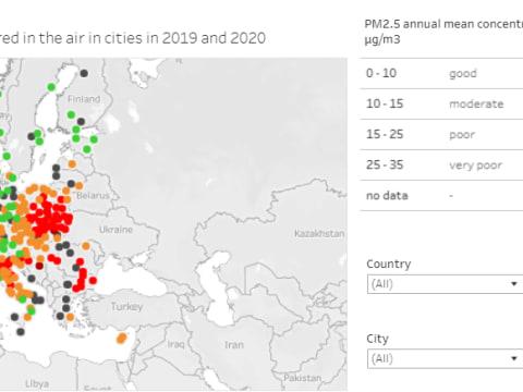 Európai városok levegőminőségi mutatója | ClimeNews
