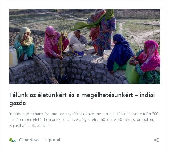 Félünk az életünkért és a megélhetésünkért – indiai gazda   ClimeNews