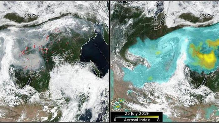 Szibéria - Kép: REUTERS/NASA