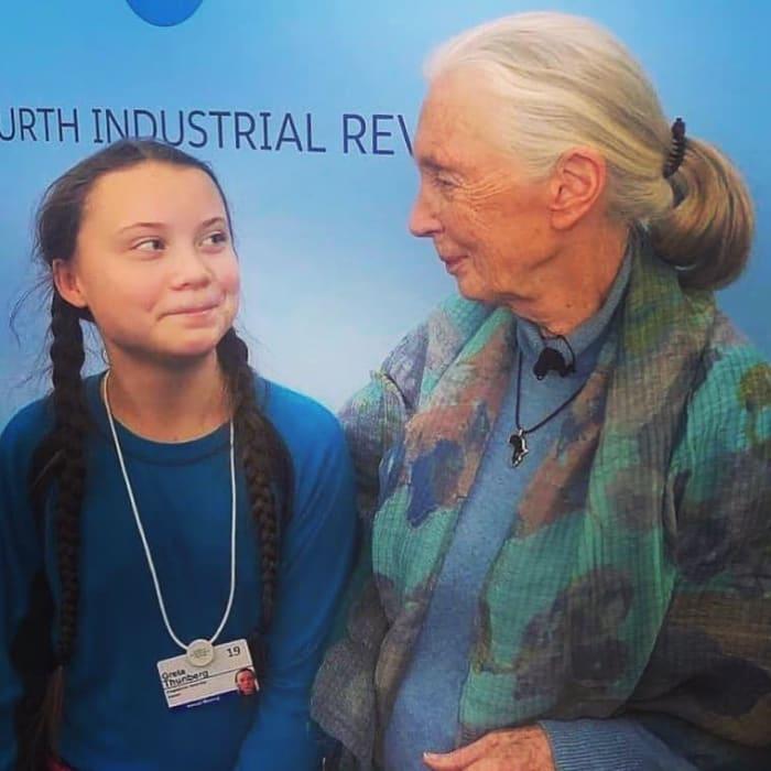 Nyílt levél a vállalatvezetőknek   ClimeNews - Hírportál   Fotó: Greta Thunberg és Jane Goodall