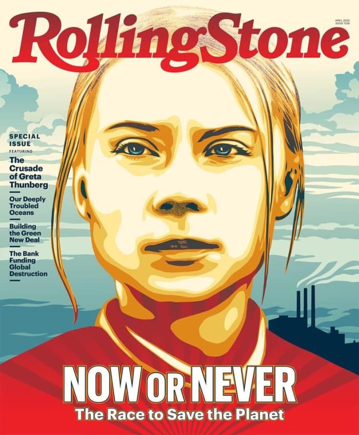 Greta Thunberg a RollingStone Magazin borítóján   ClimeNews - Hírportál