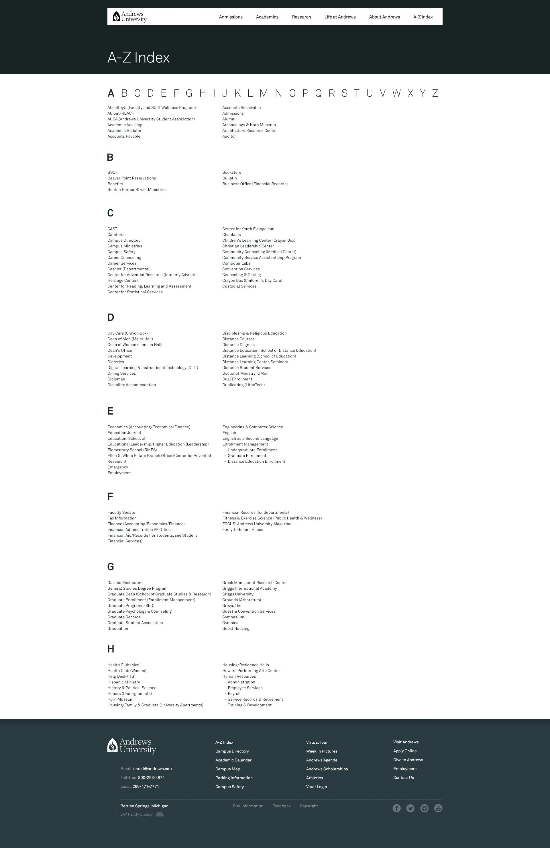 A-Z Index