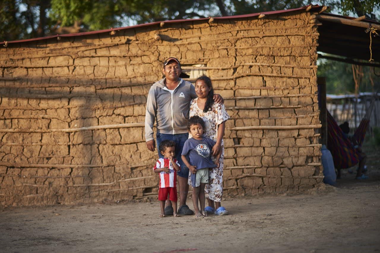 Paola y su familia