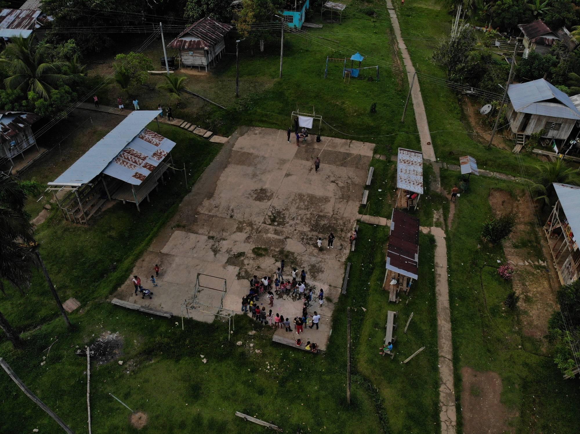 Cancha de la comunidad indígena de Loretoyaco