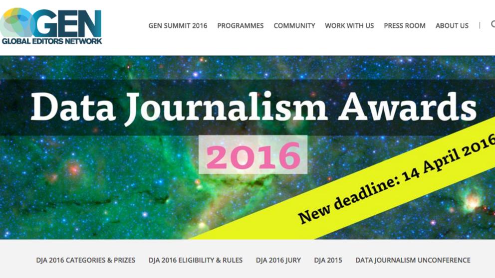 Último Día para aplicar a los Data Journalism Awards