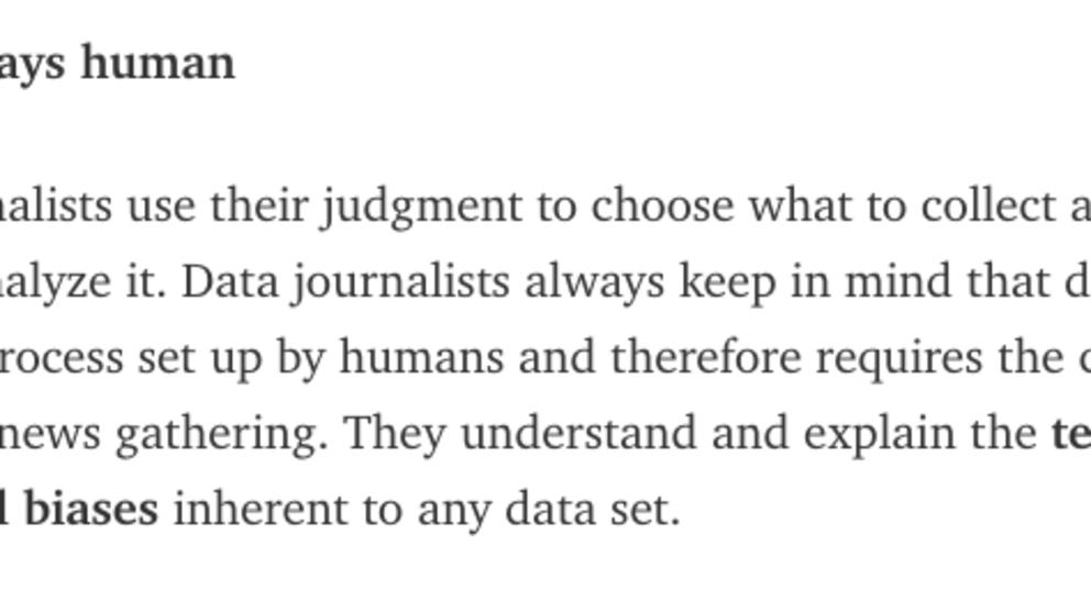 Los datos son humanos: Cuatro periodistas de datos desarrollan el primer manifiesto europeo de #ddj