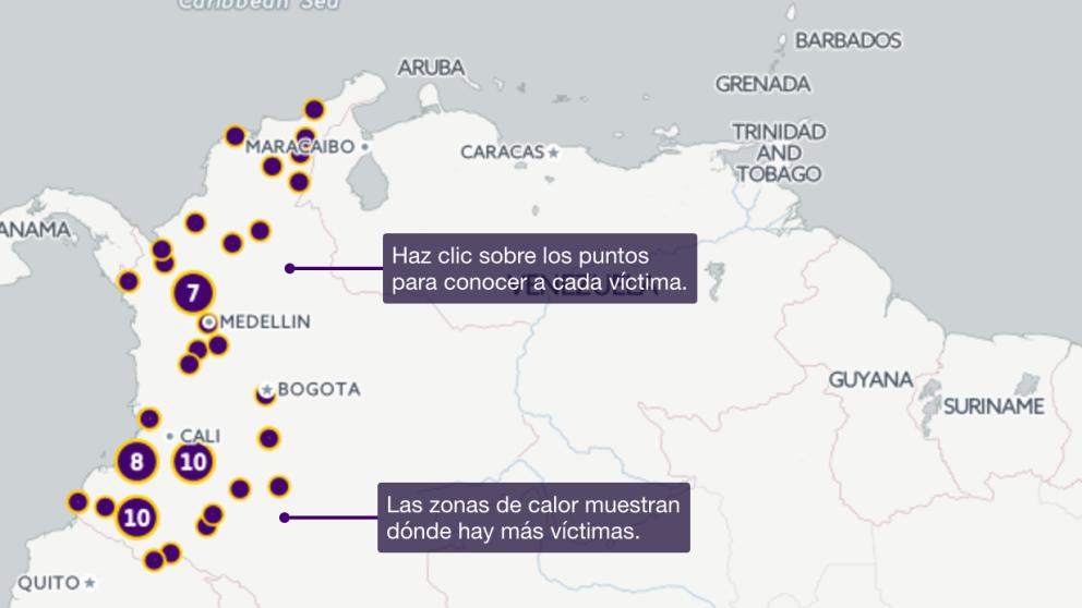Líderes asesinados en Colombia desde la firma del Acuerdo de Paz