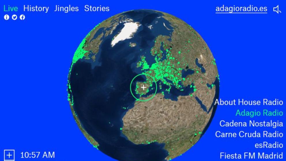 Radio Garden: sintoniza más de 8.000 emisoras en todo el mundo