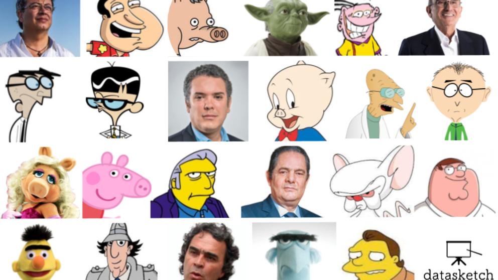 ¿A qué caricaturas se parecen los candidatos presidenciales?