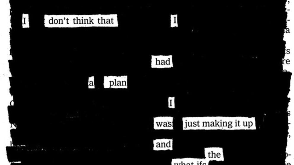 Blackout Poetry: el arte de rayar libros
