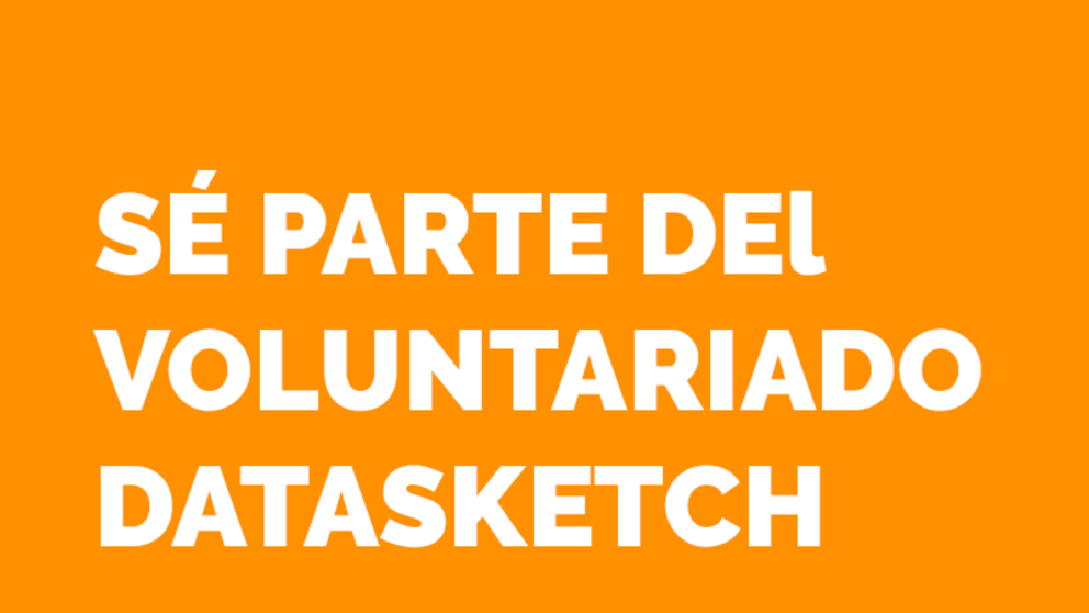 Haz parte del voluntariado Datasketch