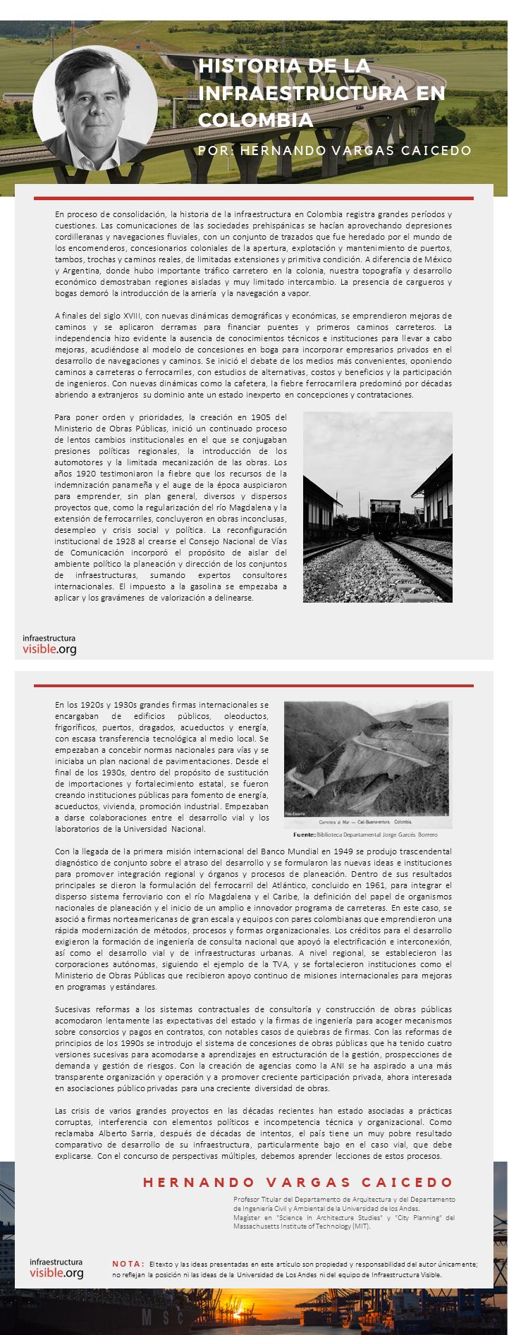 Historia de la Infraestructura en Colombia