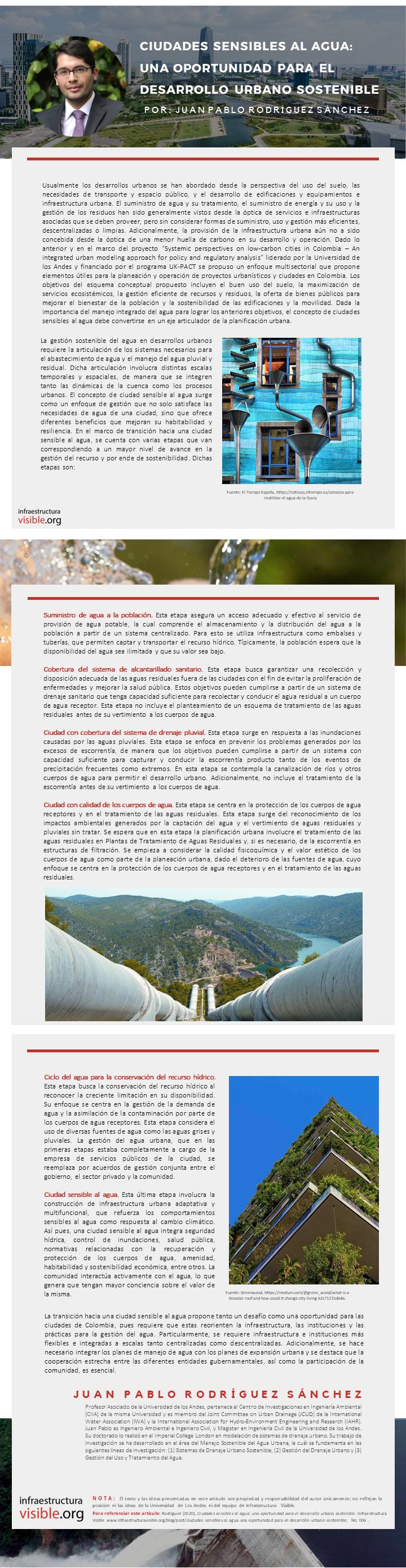 Ciudades sensibles al agua: una oportunidad para el desarrollo urbano sostenible