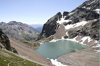 Lac de l'Eychauda vu depuis le Col des Grangettes
